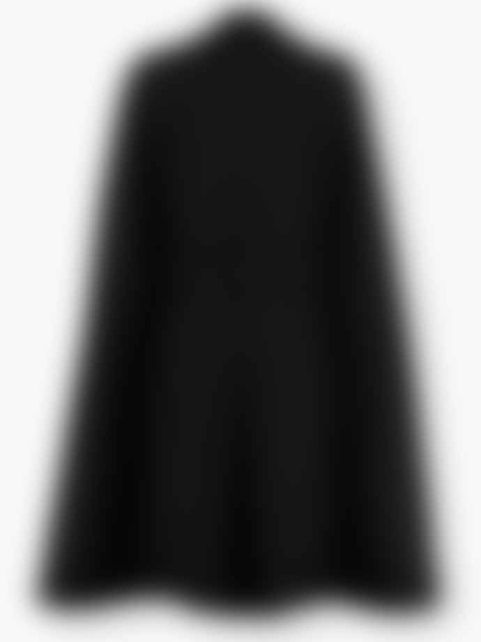 Sands and Hall Ashen Black Harris Tweed Fitted Cape