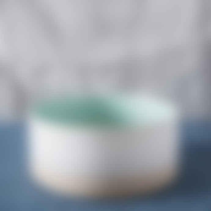 Large White Round Duck Egg Serving Bowl