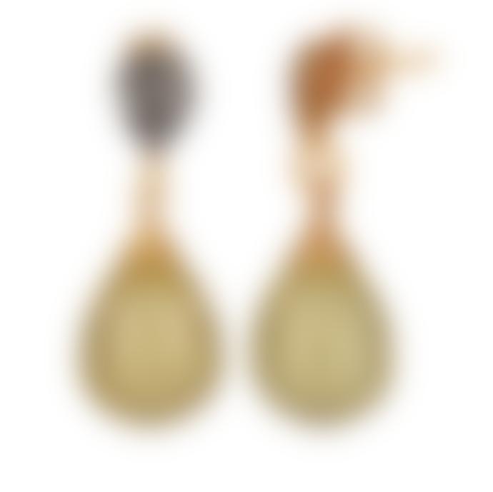 Carousel Jewels  Crystal And Lemon Topaz Drop Earrings