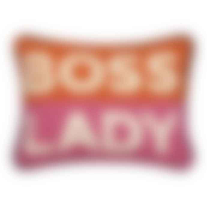 Jonathan Adler Lady Boss Needlepoint Pillow