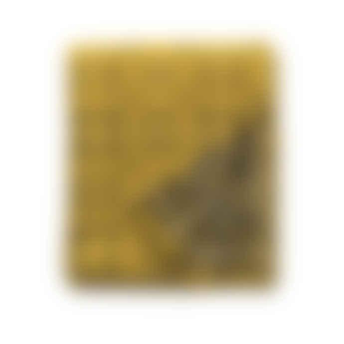 Melin Tregwynt  Knot Garden Mustard Throw/ Welsh Blanket