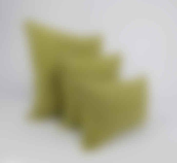 Indigo & Wills Rhubarb Stalk Heera Design Linen Cushion 40x40cm