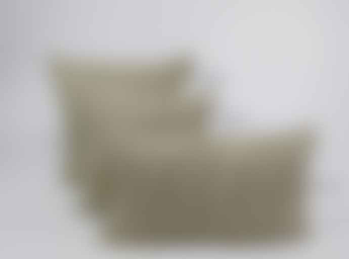 Indigo & Wills Grey Pomegranate Design Linen Cushion 45x45cm