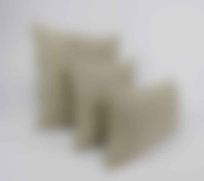 Indigo & Wills Grey Morocco Design Linen Cushion 60x35cm