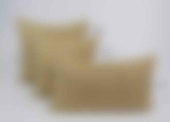 Indigo & Wills Ochre Morocco Design Linen Cushion 60x60cm