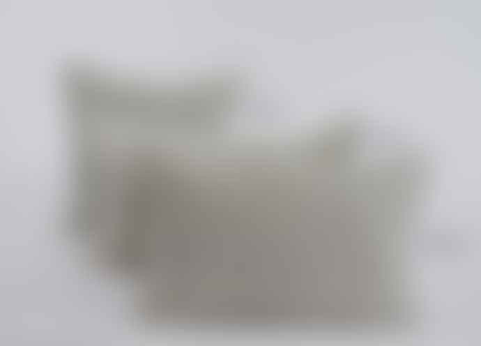 Indigo & Wills Grey Morocco Design Velvet Cushion 50x30cm