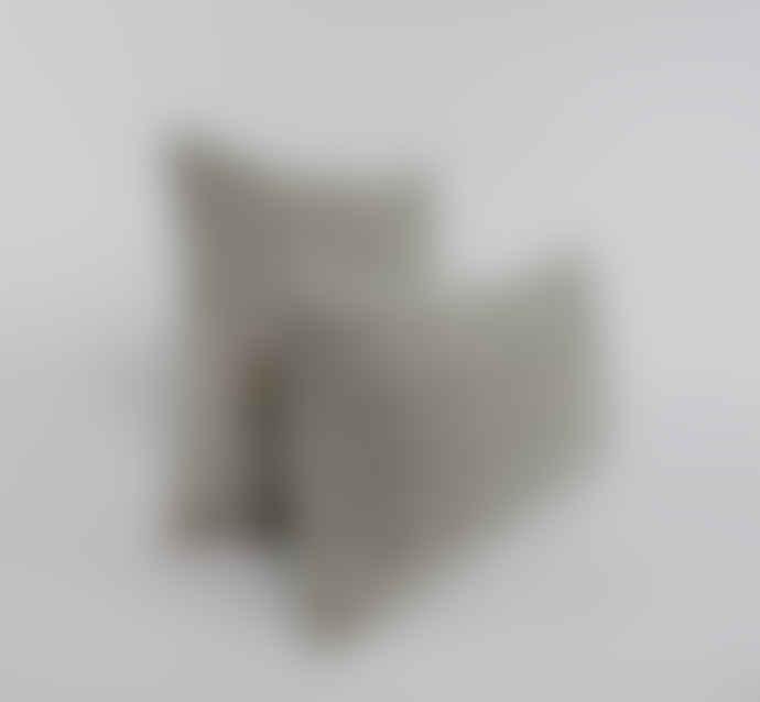 Indigo & Wills Grey Fes Design Velvet Cushion 45x45cm