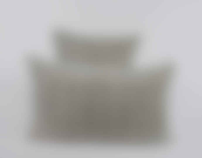 Indigo & Wills Grey Fes Design Velvet Cushion 45x45cm