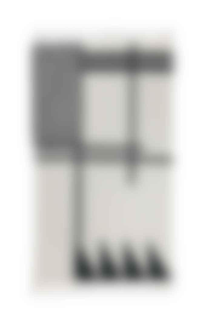 Ferm Living Handwoven Black Lines Kelim Rug