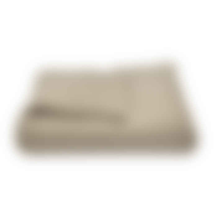 Taupe Loose Knit Cotton Throw