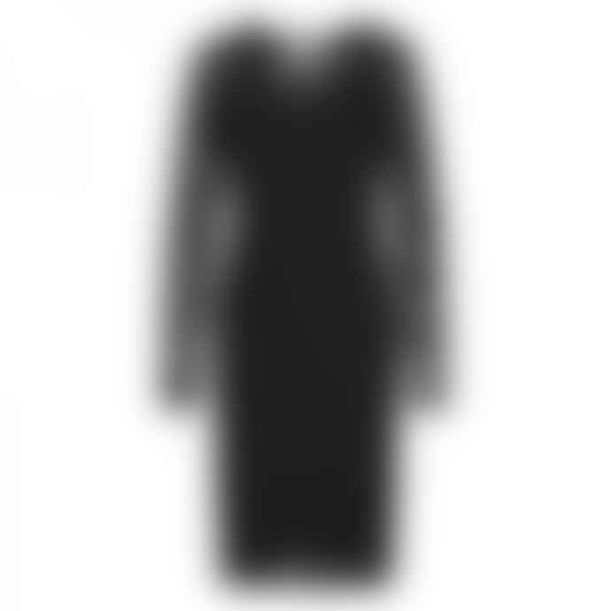Rosemunde Long Sleeve Black Lace Dress