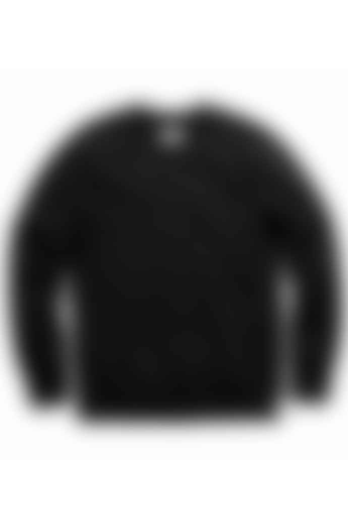 Reigning Champ Terry Black Classic Crew Neck Sweatshirt