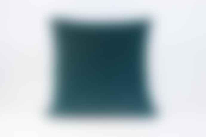 Teal Velvet Cushion