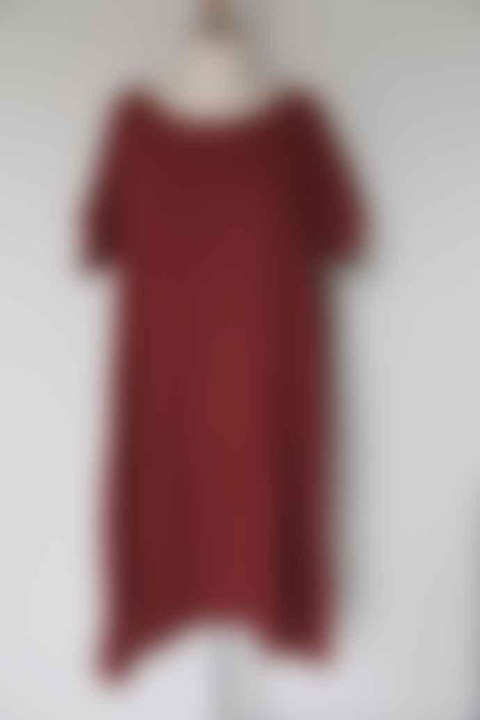 CollardManson Wdts Lotus Dress Red