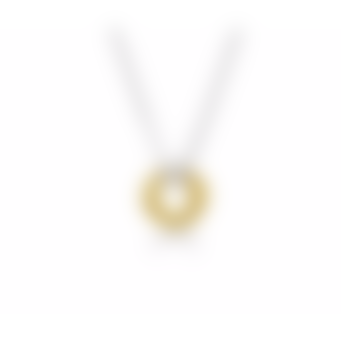 Maya Magal Silver with Gold Russian Necklace