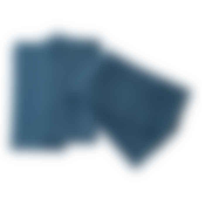 Petrol Blue Washed Linen Napkins Set