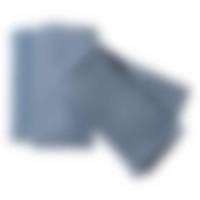 The Hackney Draper Pale Blue Washed Linen Napkins  Set