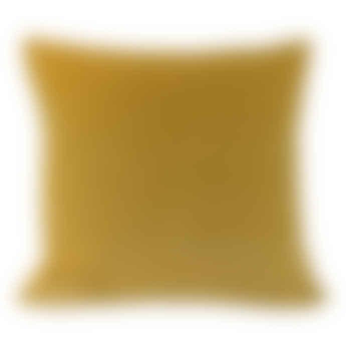 The Hackney Draper Yellow Gold Velvet Cushion