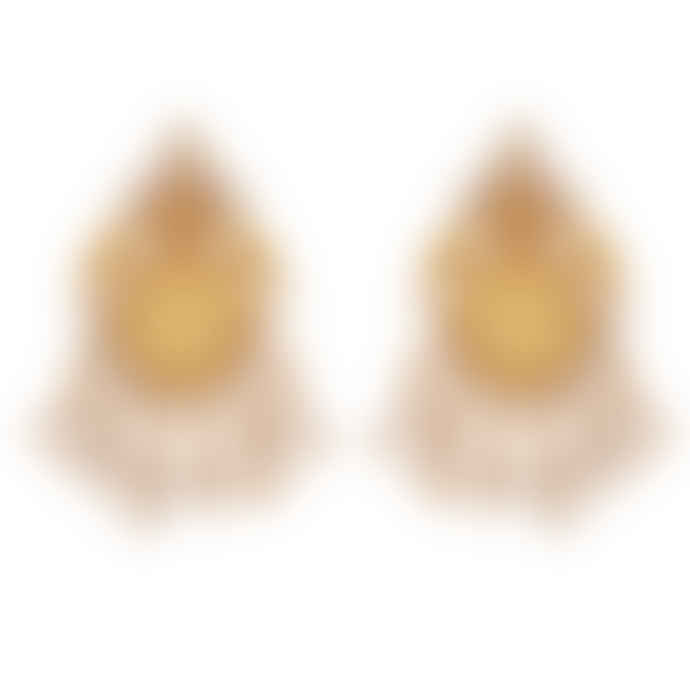 Carousel Jewels  Intricate Pearl And Crystal Clustered Earrings