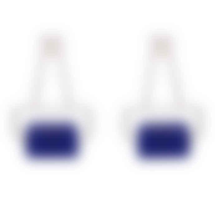 Carousel Jewels  Blue Aventurine And Cystal Silver Earrings