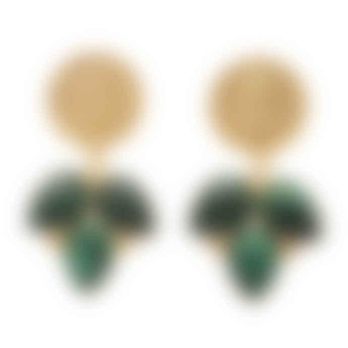 Carousel Jewels  Malachite Coin Earrings