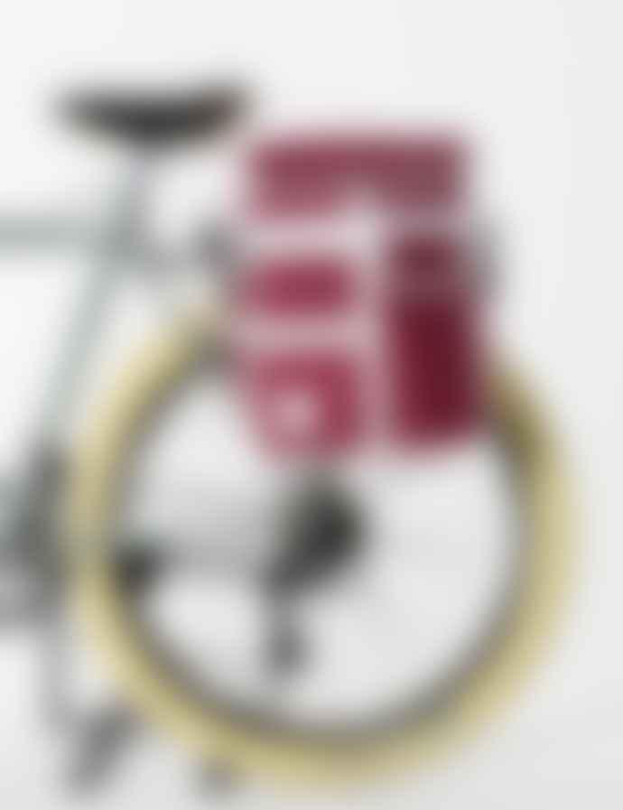 Goodordering Maroon Large Pannier Bicycle Shoulder Bag