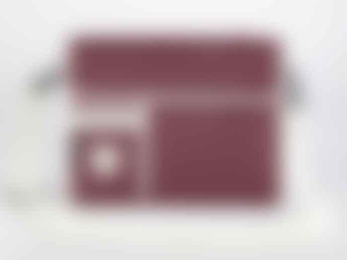 Goodordering Maroon Satchel Shoulder Bag Laptop Sleeve