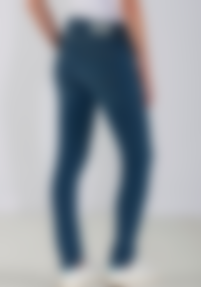 Mud Jeans Skinny Hazen Jeans in Pure Blue