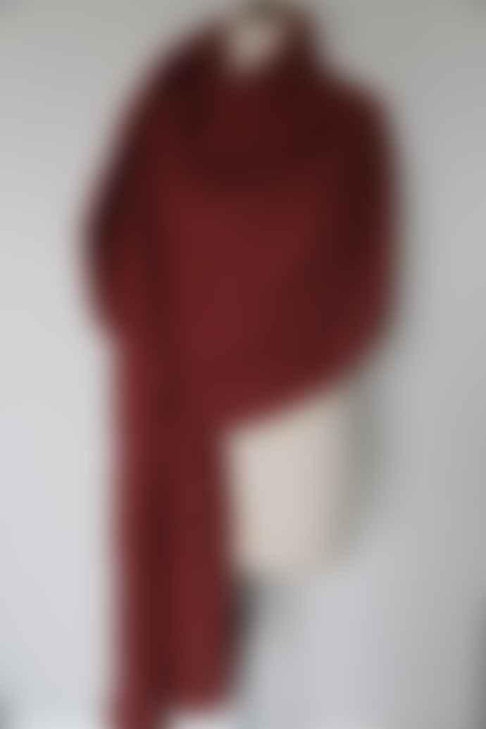 CollardManson Red Cotton Scarf