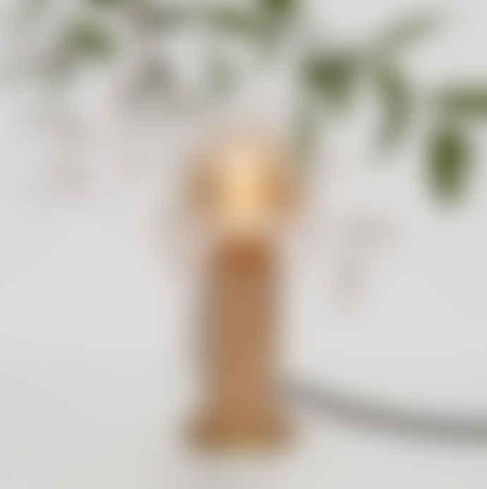 Tala Oak & Brass Touch Lamp