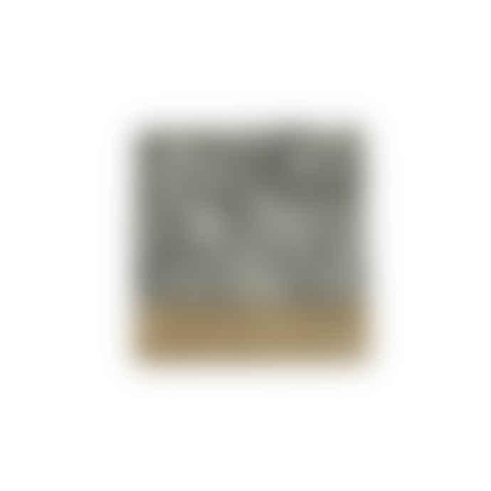 Set of 4   White and Grey Aarnav Granite Coaster