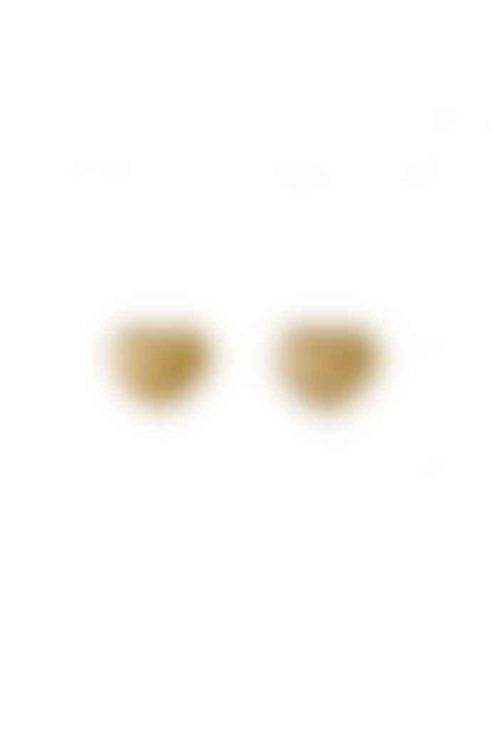 Pilgrim Sophia Gold Plated Heart Stud Earrings