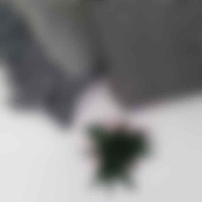 Gisela Graham Fringed Grey Chevron Woven Throw