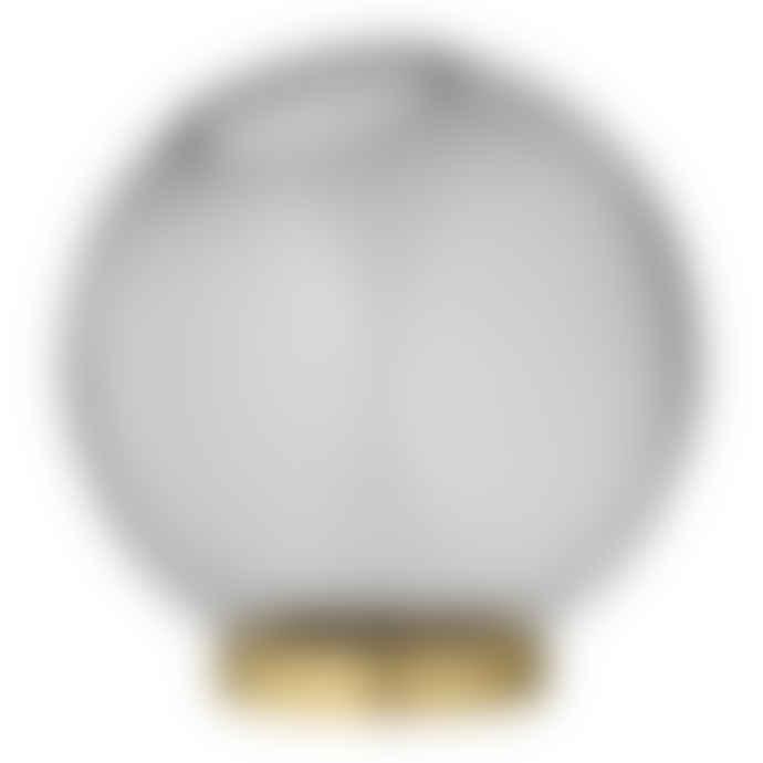 AYTM Medium Black Round Glass Globe Vase