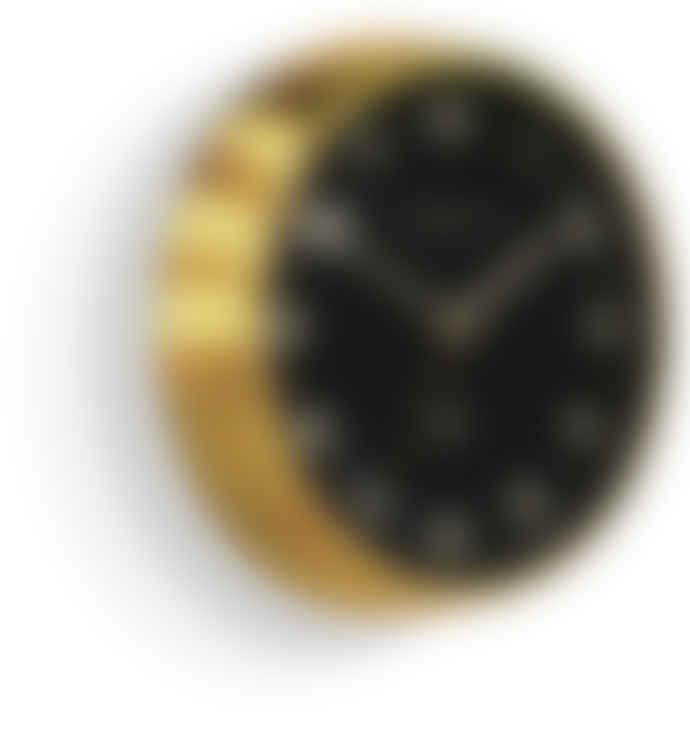 Newgate Black And Brass Chrysler Clock