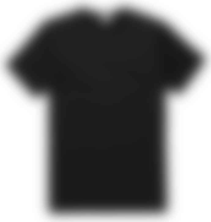 Sunspel Black Q8 Short Sleeve Crew Neck Shirt