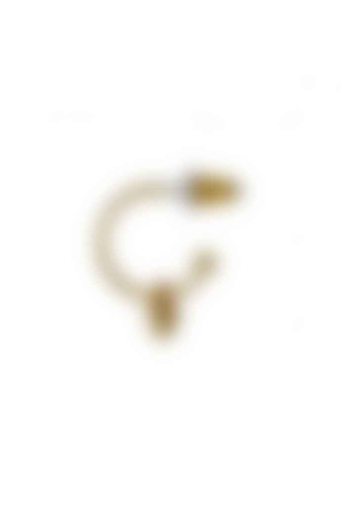 Pilgrim Sophia Gold Plated Heart Hoop Earrings