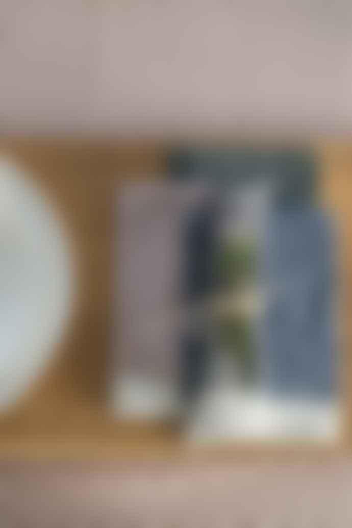 Raine And Humble Set Of 4 Polka Dot Denim Swan Lake Napkin