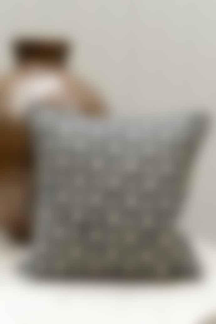 Cotswold Grey Diamond Cushion