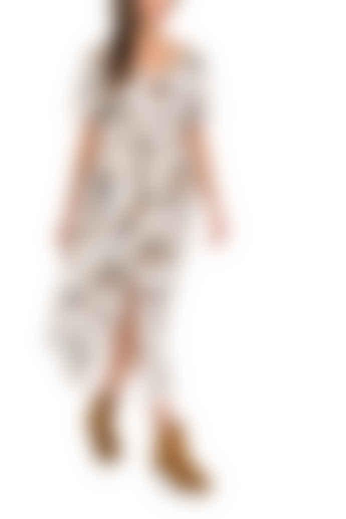 Salsa Jeans Cream Long Printed Dress