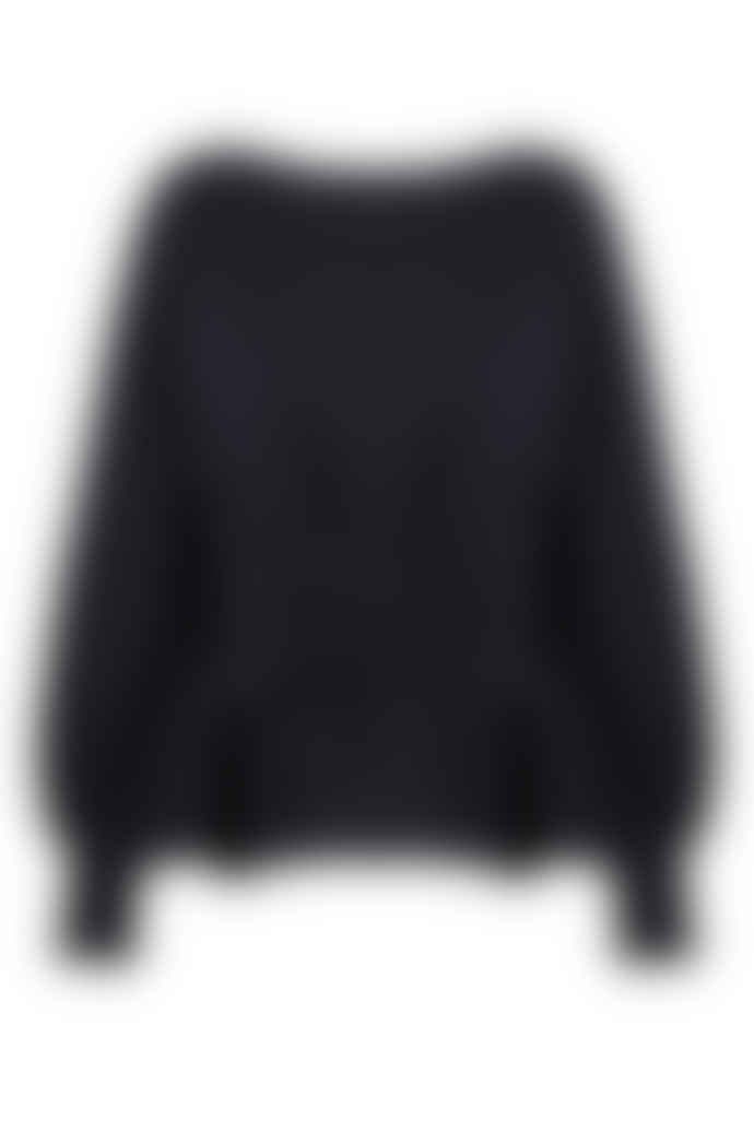 Jovonna London Black Jen Corset Knitted Jumper