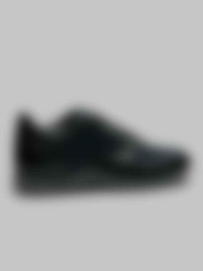 Corneliani Black And Blue Contrast Runner Shoe