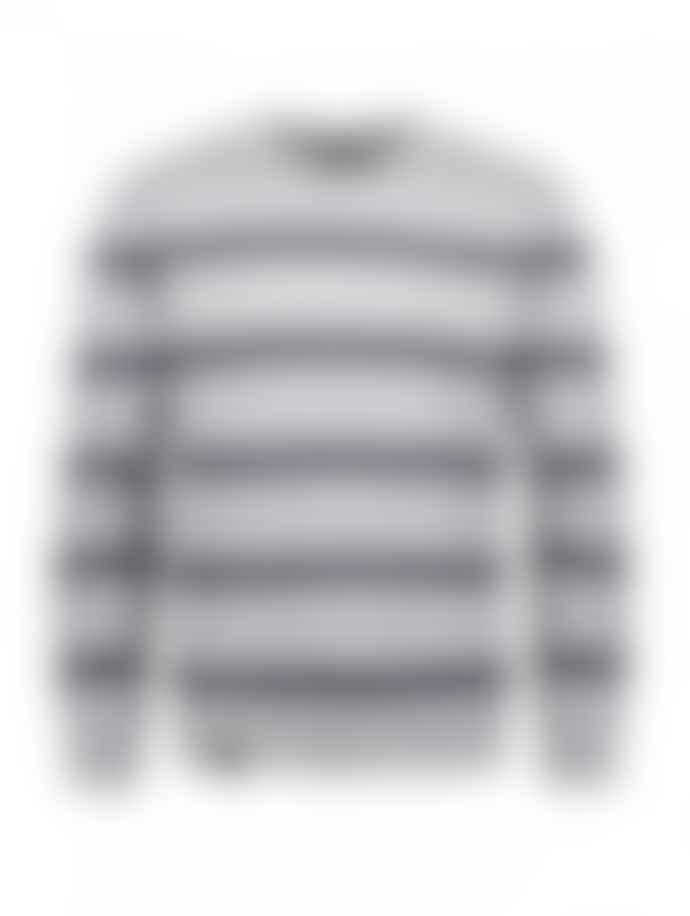 Makia Grey Navy Fresnel Knit Sweater