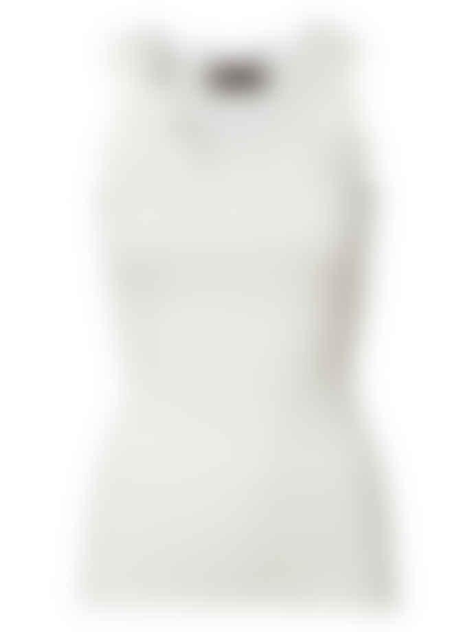 Rosemunde White Silk Cotton Blend Camisole