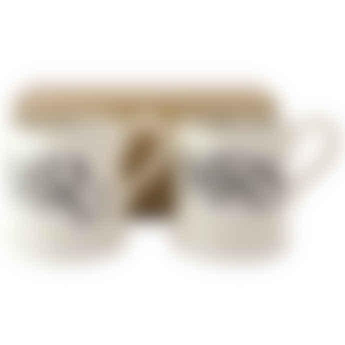 Emma Bridgewater Black Toast Mr & Mrs 2 x 1/2 Pint Mugs