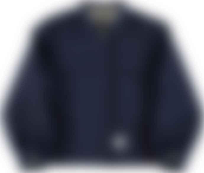 Eat Dust Navy G O D Worker Wool Jacket