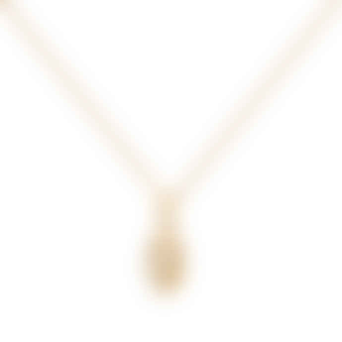 A Weathered Penny  Gold Delicate Hand Necklace