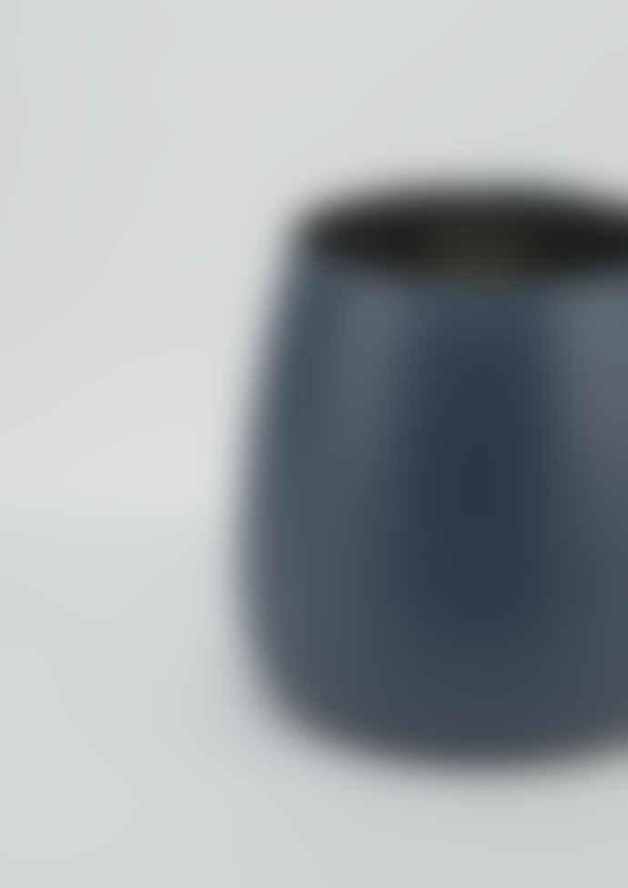 Large Glass Blue Votive