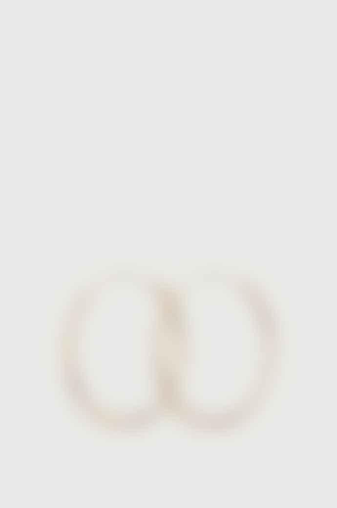 Pernille Corydon Midi Plain Gold Hoops Earrings