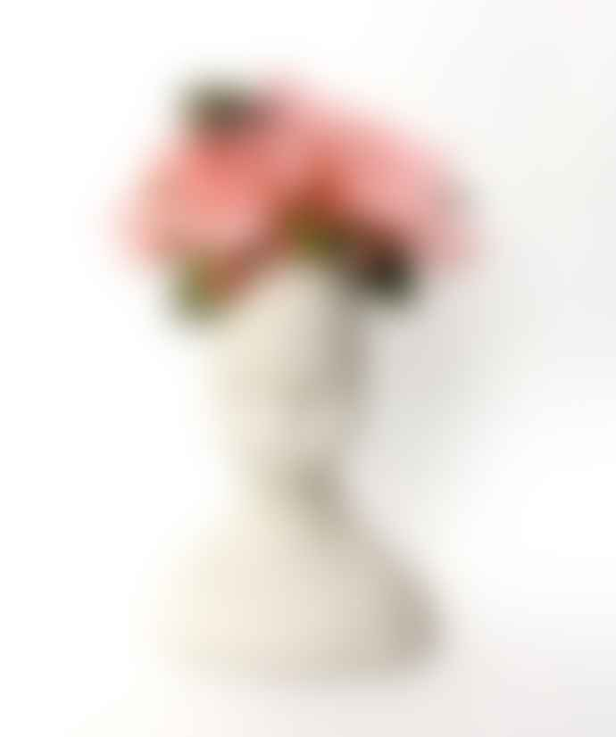 jan.ne.ke Handmade White Porcelain Frida Kahlo Face Vase